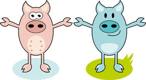 Cartoon Pig Stock Photos