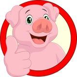 Cartoon pig mascot Royalty Free Stock Image