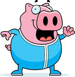 Cartoon Pig in Pajamas Royalty Free Stock Image