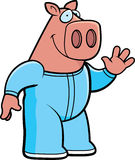 Cartoon Pig Pajamas Stock Image