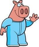 Cartoon Pig Pajamas Stock Image