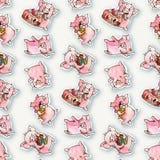 Cartoon  pig Stock Photography