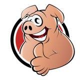 Cartoon pig sign Stock Images