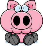 Cartoon Pig Sitting Stock Photography
