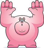 Cartoon Pig Surrender Stock Photos