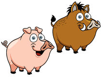 Cartoon pig Royalty Free Stock Photo