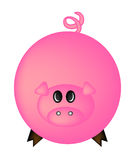 Cartoon pig vector symbol icon design. Cute animal illustration isolated on white background Stock Image