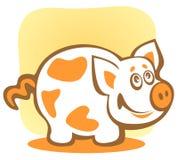 Cartoon piggy Stock Images