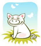 Cartoon piggy Stock Photo