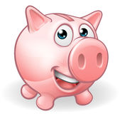 Cartoon Piggy Bank. A cute cartoon piggy bank character Royalty Free Stock Image