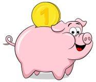 Cartoon piggy bank Stock Image