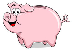 Cartoon piggy bank Royalty Free Stock Images