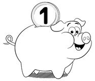 Cartoon piggy bank Royalty Free Stock Photography
