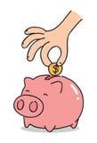 Cartoon piggy bank, vector Stock Photography