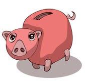 Cartoon Piggy Bank. Royalty Free Stock Photo