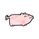 Cartoon piglet Stock Photography