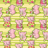 Cartoon pigs Royalty Free Stock Images