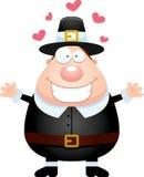 Cartoon Pilgrim Hug Stock Images