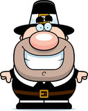Cartoon Pilgrim Smiling Royalty Free Stock Photos
