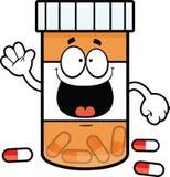 Cartoon Pill Bottle Smiling Stock Image