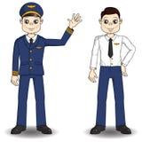 Cartoon pilot Stock Images