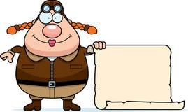 Cartoon Pilot Sign Royalty Free Stock Photography