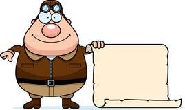Cartoon Pilot Sign Royalty Free Stock Image