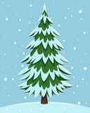 Cartoon Pine Tree Stock Photography