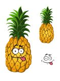 Cartoon pineapple fruit Royalty Free Stock Images