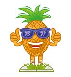Cartoon Pineapple royalty free illustration