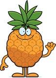 Cartoon Pineapple Waving Royalty Free Stock Photo