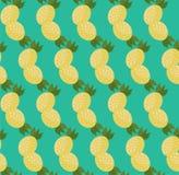 Cartoon Pineapples pattern. Cartoon Pineapples seamless pattern in flat style Stock Photos