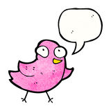 cartoon pink bird Royalty Free Stock Images