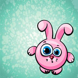 Cartoon pink bunny. Royalty Free Stock Photos