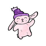 Cartoon pink bunny rabbit Stock Photography