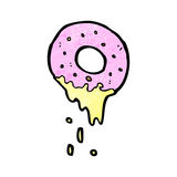 Cartoon pink doughnut Stock Photo
