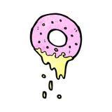 Cartoon pink doughnut Stock Photo