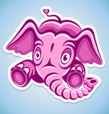 Cartoon pink elephant Royalty Free Stock Photography