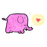 Cartoon pink elephant Stock Image