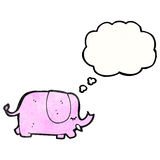 Cartoon pink elephant Stock Images