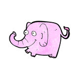 cartoon pink elephant Stock Photography