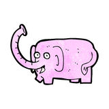Cartoon pink elephant Royalty Free Stock Image