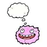 Cartoon pink furry monster Royalty Free Stock Photos