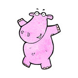 Cartoon pink hippo Stock Image
