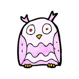 cartoon pink owl Royalty Free Stock Image