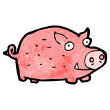 Cartoon pink pig Stock Images