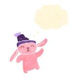 Cartoon pink rabbit Stock Photography