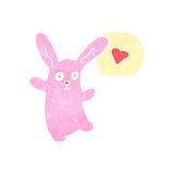 Cartoon pink rabbit Stock Photography