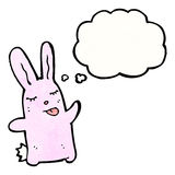 Cartoon pink rabbit Royalty Free Stock Image