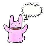 Cartoon pink rabbit Royalty Free Stock Photos